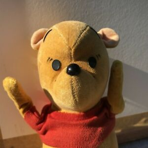 "Winnie The Pooh Velvet Bear, 1966 Disney 6.5"" Japan Vintage"