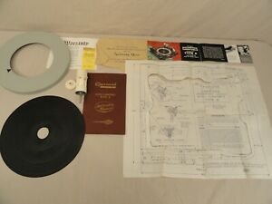 VTG GARRARD TURNTABLE PARTS TYPE A 45 RPM SPINDLE LRS3 ADAPTER PLATTER MANUAL