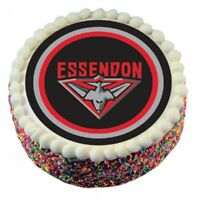 Essendon Bombers Official AFL Edible Icing Cake Topper