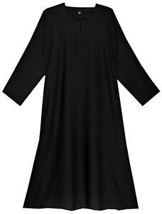 Ladies plain Dubai Black abaya/jilbab/Burqa with pocket.Good & soft Nidah fabric