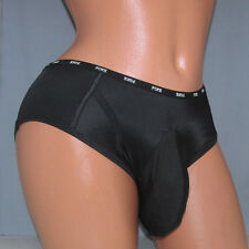 Victoria's Black Logo  Hipster SISSY POUCH PANTIES Crossdress for Men Sz 24-44 M