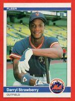 1984 Fleer #599 Darryl Strawberry PACK FRESH MINT+ ROOKIE RC New York Mets