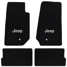 Jeep Wrangler 4 Pc All Weather Carpet Floor Mats JEEP Logo fits 2007-2013 4 Door