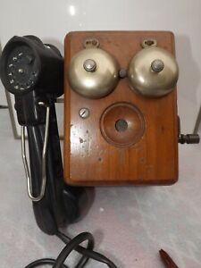 Alte telefon kurbeltelefon Wandtelefon Elmeg