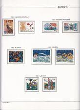 EUROPA CEPT 1992 - AÑO COMPLETO EN HOJAS FILABO - VER 20 IMAGENES COMPLETE YEAR