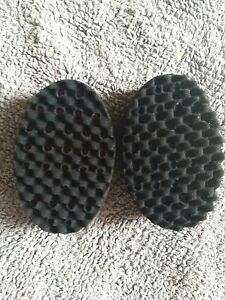 2 Double Sided Barber Hair Brush Sponge Dreads Locking Twist Afro Coil Curl Wave