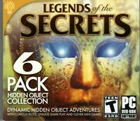 Legends of The Secrets Hidden Object 6 Pack (PC) DISC ONLY NO CASE NO ART UNUSED