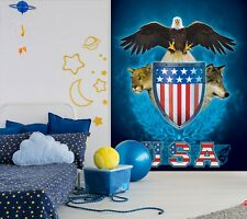 3D USA Trinity Eagle G386 Wallpaper Mural Self-adhesive Removable Vincent Amy
