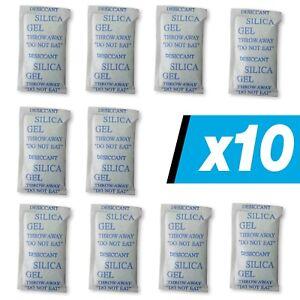 10 x 10 g E-Cron Silikagel-Päckchen. Luftentfeuchter- Beutel mit Silikagel