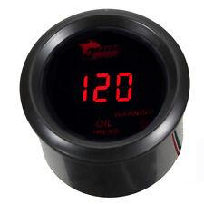 """2"""" 52mm Black Car Motor Digital Red LED Oil Press Pressure LED Gauge Meter"""