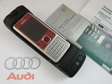 NOKiA 6300 Mit original Audi und Skoda KfZ-Handyadapter+ 8P0051435HD wie NEU