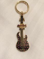 Hard Rock Cafe Destin Retro Look Guitar Key Chain NEW HTF CLOSED CAFE