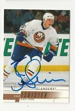 00/01 Upper Deck Autographed Hockey Card Brad Isbister New York Islanders