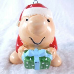 """1983 Ziggy Christmas Tree Ornament 2 1/4"""" Tall Holding  A Present For You"""