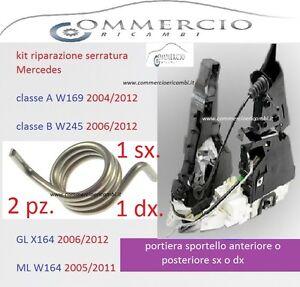 serratura mercedes classe A B ML R Kit riparazione chiusura porta ant o post S/D