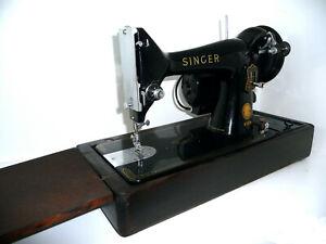 Antique vintage Singer 99K sewing machine electric motor and lamp little sister