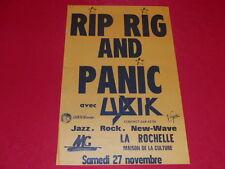 COLL.J. LE BOURHIS AFFICHE Music RIP RIG & PANIC avec UBIK  LA ROCHELLE ca 1983