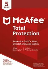 McAfee TOTAL PROTECTION 2020 5 Devices 1 Year Antivirus Mac Windows Android KEY