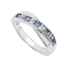 Tanzanite Round White Gold Fine Gemstone Rings