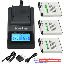 Kastar Battery LCD Fast Charger for Nikon EN-EL12 Nikon Coolpix S1200pj Camera
