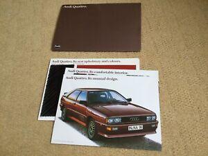 AUDI QUATTRO Car UK Sales Literature Pack Brochure Aug 1980-81