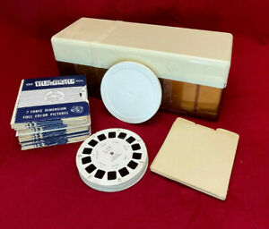 View Master Lot of Reels and Vintage Storage Box
