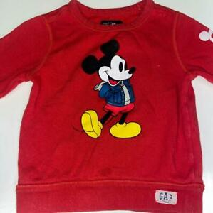 BABY GAP SIZE 3T RED LONG SLEEVE SWEATER LIMITED EDITION MICKEY MOUSE PRE OWNED