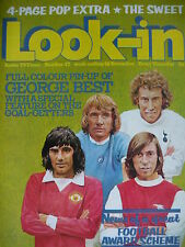 LOOK-IN MAGAZINE 18TH NOV 1972 - GEORGE BEST - THE SWEET