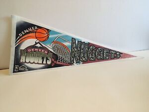Denver Nuggets NBA Pennant Vintage 1994 Denver Colorado Basketball Trench MFG