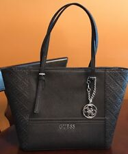 Beautiful New GUESS Handbag, Purse, Shoulder Bag, Black, Silver Accents