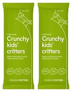 Crunchy Critters edible insects bugs Crunchy Kids' Critters x 2 packs