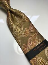 NWT STEVEN LAND Paisley Neck Tie & Hanky Big Knot Collection 100% Silk