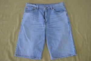 LEVIS 569 Size 34x11 STRAIGHT Blue DENIM SHORTS