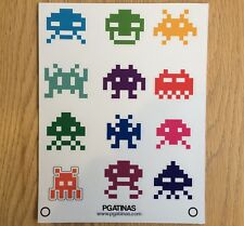 STICKERS SET 20 X 15 INVADERS ARCADE GAME ATARI  AUFKLEBER 12 STICKERS