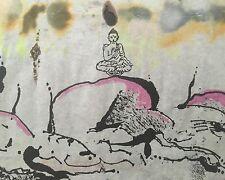 Dietrich Albrecht: Signierte Orig. Mischtechnik mit Aquarell, Fluxus Mail Art