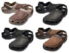 Mens Crocs Yukon Vista Clogs Mocasin Touch Leather Summer Shoes Slip Ons Sandals