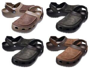 Mens Crocs Yukon Vista Clogs Mocasin Touch Leather Summer Shoes Slip Ons Sandals
