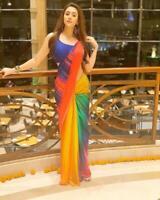 Indian Bollywood Heavy New  Prachi Party Wear Saree Designer Wedding ethnic Sari
