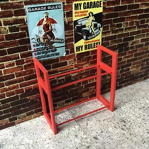 1:24 Scale Diorama Garage Tyre Rack / Workshop Accessories