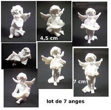 lot de 7 anges différents,chérubin, déco Noël, statuette G41
