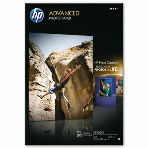 HP White A3 Advanced Glossy Photo Paper Pack of 20 Q8697A