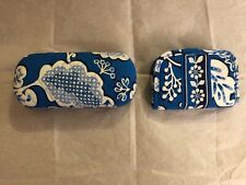 NWOT Vera bradley blue lagoon patt.glasses case clam shell & credit card holder