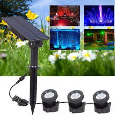 Solar 18 LED Underwater Spotlight Garden Outdoor Pool Pond Yard Swimming Light