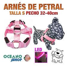 ARNÉS TALLA S LUMINOSO LED ROSA PETRAL AJUSTABLE PERRO PECHO 32-40cm L21SR 2948