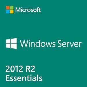 Microsoft Windows Server 2012 R2 Essentials 64bit CS DVD 1-2 CPU + Unused COA