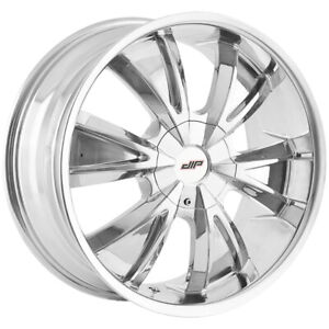 "4-Dip D38 Vibe 24x9.5 5x5""/5x5.5"" +18mm Chrome Wheels Rims 24"" Inch"
