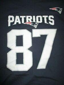 NFL Team Apparel ROB GRONKOWSKI No. 87 NEW ENGLAND PATRIOTS (XL) T-Shirt Jersey