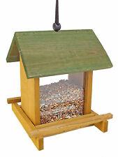 Holz Vogel Futterstelle zum Hängen 21cm - Futterhaus Futterstation Vogelhäuschen