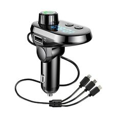 Bluetooth FM transmitter for car with charger typ c and iPhone included New 2020