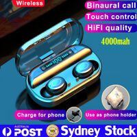 9D HiFi Bluetooth 5.0 Stereo Wireless TWS Headset 4000mah LED Headphone Earphone